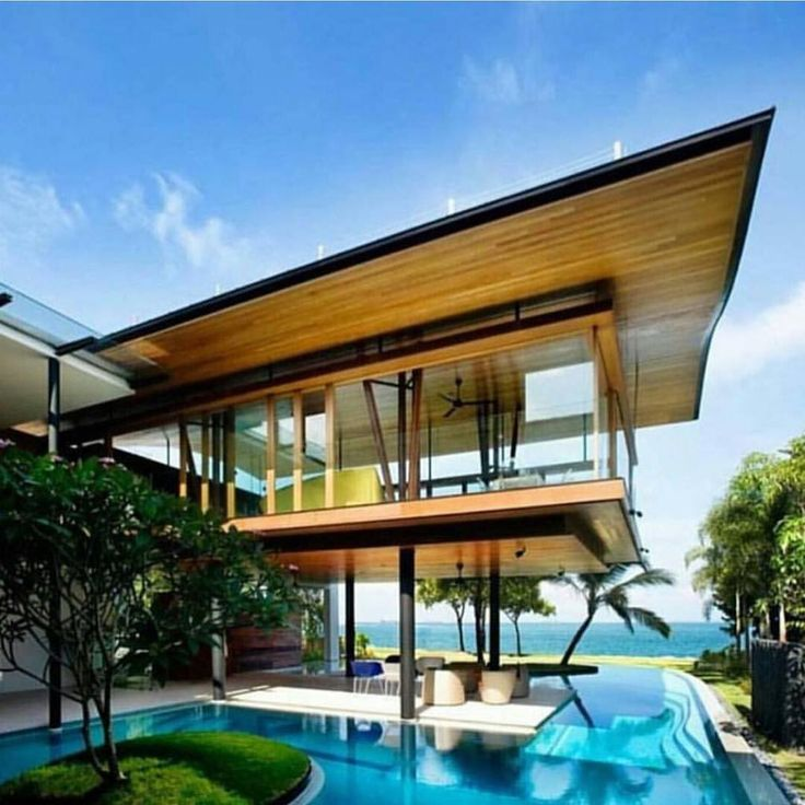 Fish House Home Architecture Design With Awesome Swimming Pool By Guz Architects In Singapore I Could Probably Manage