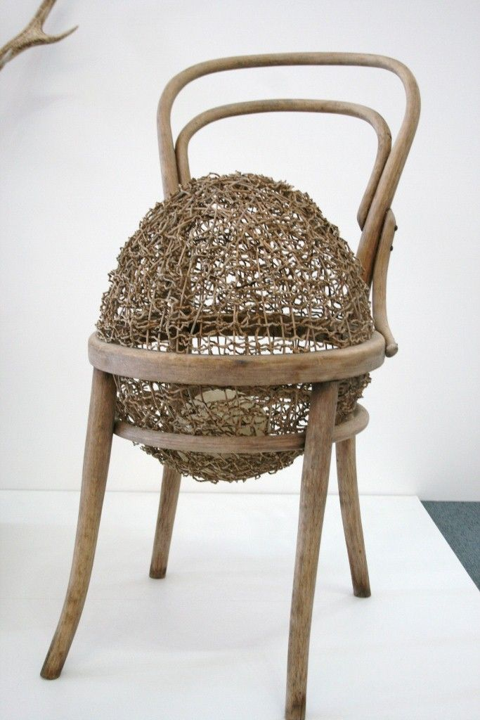 Harriet Goodall Thonest No. 1 - Palm inflorescence, dyed rattan, bentwood chair