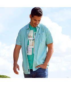 Cherokee Mens Green Check Shirt - Size Small.