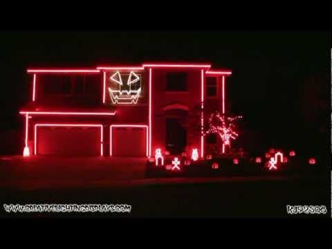 Halloween Light Show 2011 - Thriller..... this one is my favorite!!!!!!!!!!!!