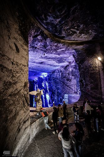 Salt Cathedral  (Underground). First Colombian wonder) Bogota, Colombia. Located in Zipaquira a small town an hour away from Bogota.