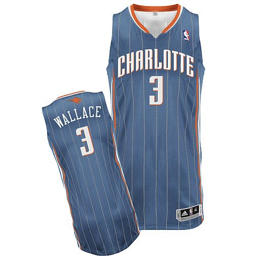 Charlotte Bobcats Gerald Wallace 3 Blue Authentic Jersey Sale