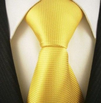 Solid Canary Yellow Tie, Yellow Neckties #177