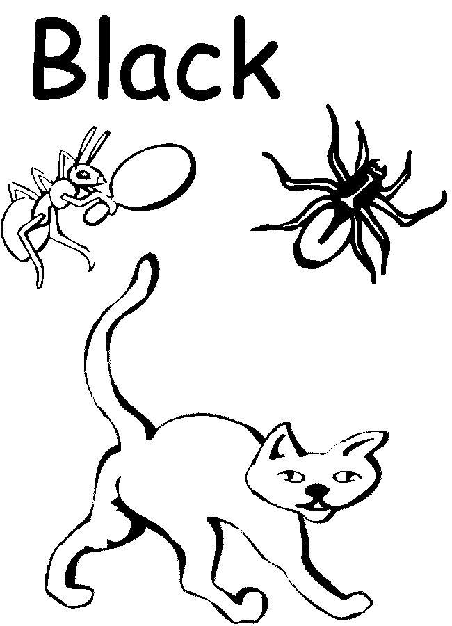 colors black preschool colorspreschool ideaskids coloringcoloring pagespreschool - Coloring Worksheets For Preschoolers