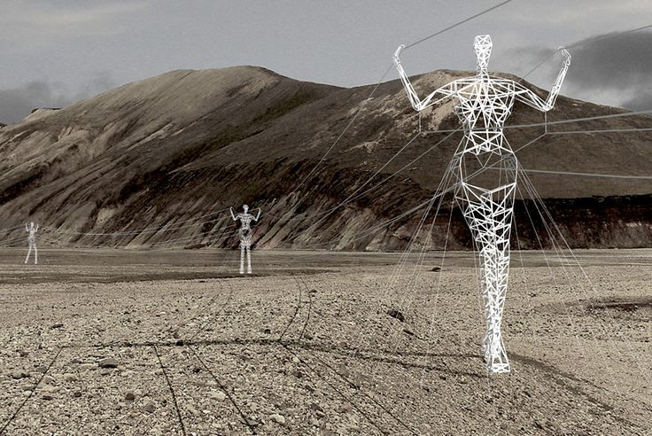 Land of Giants: Human Sculpture Pylon Concept by Choi + Shine