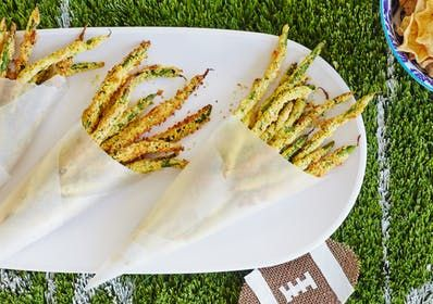 Can we all agree that green bean fries are a modern miracle? I love a zucchini stick as much as anyone, but I love a green bean even more, and am sincerely thrilled that this trend has made its way into the mainstream.