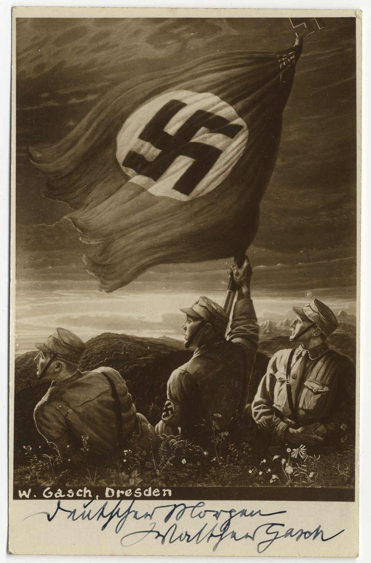 Very Good Morning In German : Quot deutscher morgen german morning b w art propaganda pc