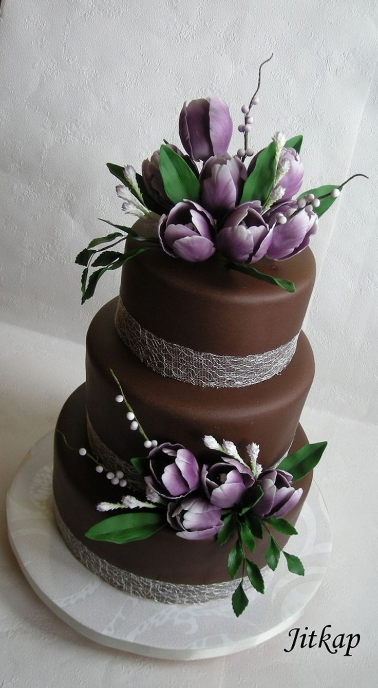 Wedding With Tulips on Cake Central