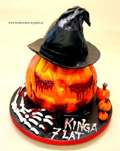 Tort dynia halloween zrobiony przez Cukiernię Krakowskie Wypieki