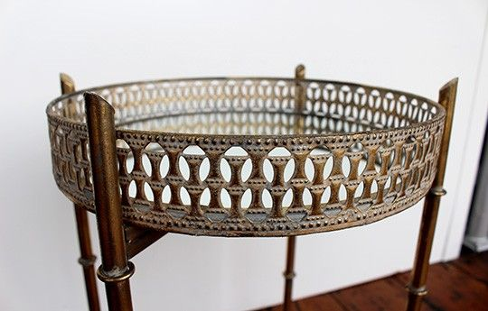 Distressed Gold Tray Table - WARINGS Store