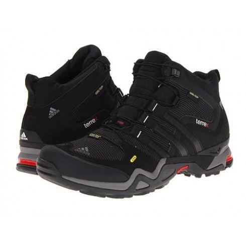Adidas Terrex Fast X Mid GTX - Solid Grey / Black / Vivid Red - Footwear Boots - Tactical Distributors- Tactical Gear