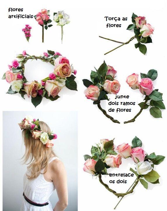 Coroa de flores - Estilo Hippie Chic