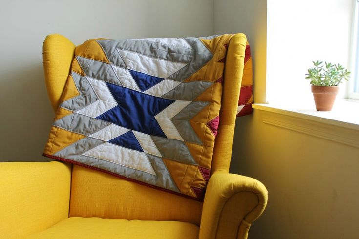 Lovely quilt, beautiful chair