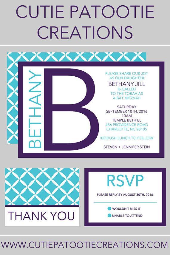 20 best Bat Mitzvah Invitations images on Pinterest Bat mitzvah