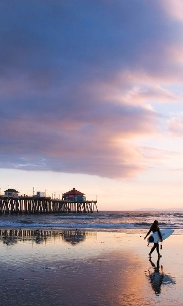 GoAltaCA | Featuring more than 800 miles of coastline and a wide variety of landscapes, the State of California is home to some of the best beaches in the world. Here are some of our favorites, from south to north. Pictured: Huntington Beach