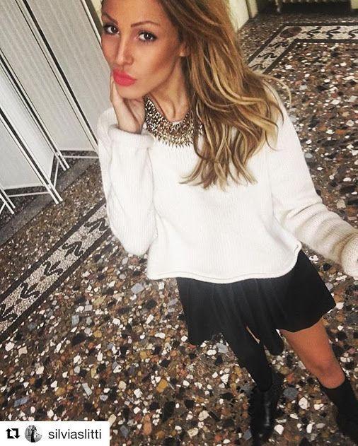 Silvia Slitti wearing #Stokton #FabioSfienti …
