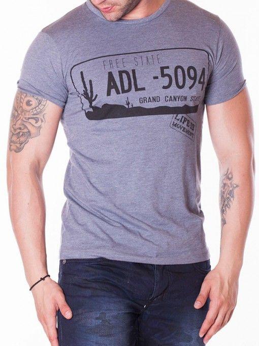 Tricou barbati ADL 5094 gri