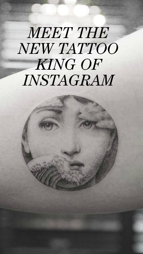 Meet the New Tattoo King of Instagram: The app is responsible for some of the biggest trends in body art, and riding the crest of that wave is Mr. K, a Korean artist who works out of Bang Bang's shop in downtown Manhattan. He's become famous for his extremely detailed and sometimes micro-sized work—often tattooing Fornasetti designs, dog portraits, and realistic flowers. We grilled him on how he got started, what sets him apart, and the biggest tattoo trends. | coveteur.com