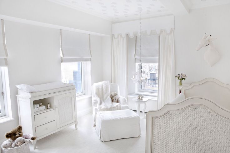 An all white nursery dream nursery pinterest home for Elle decor nursery