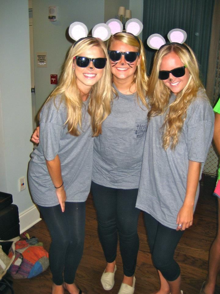 Three Blind Mice costumes  @Tera Browning Browning Browning Browning Faris, you think we can get Moe to do this with us?!
