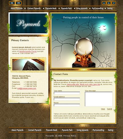 Psycards Fortune Website Templates by St.Nik