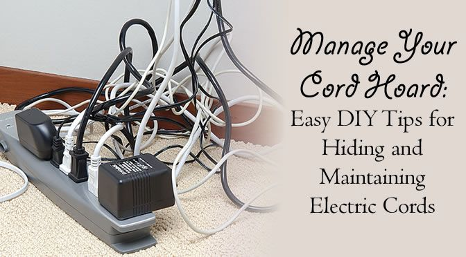 67 best Hiding Electric Cords, and Cables images on ...