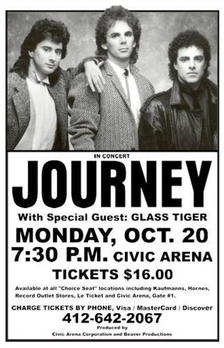 Journey With Glass Tiger at Civic Arena Santana Concert Limited Poster Print