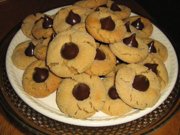 Peanut Butter-Hersheys Kisses Cookies Recipe - Food.com