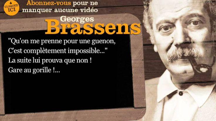 Georges Brassens - Le gorille - Paroles ( karaoké)