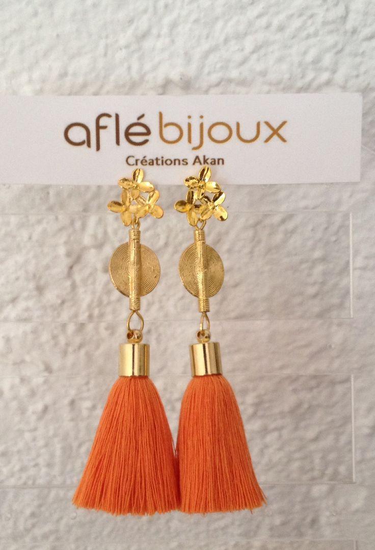 Orange www.aflebijoux.com Tassel jewelry