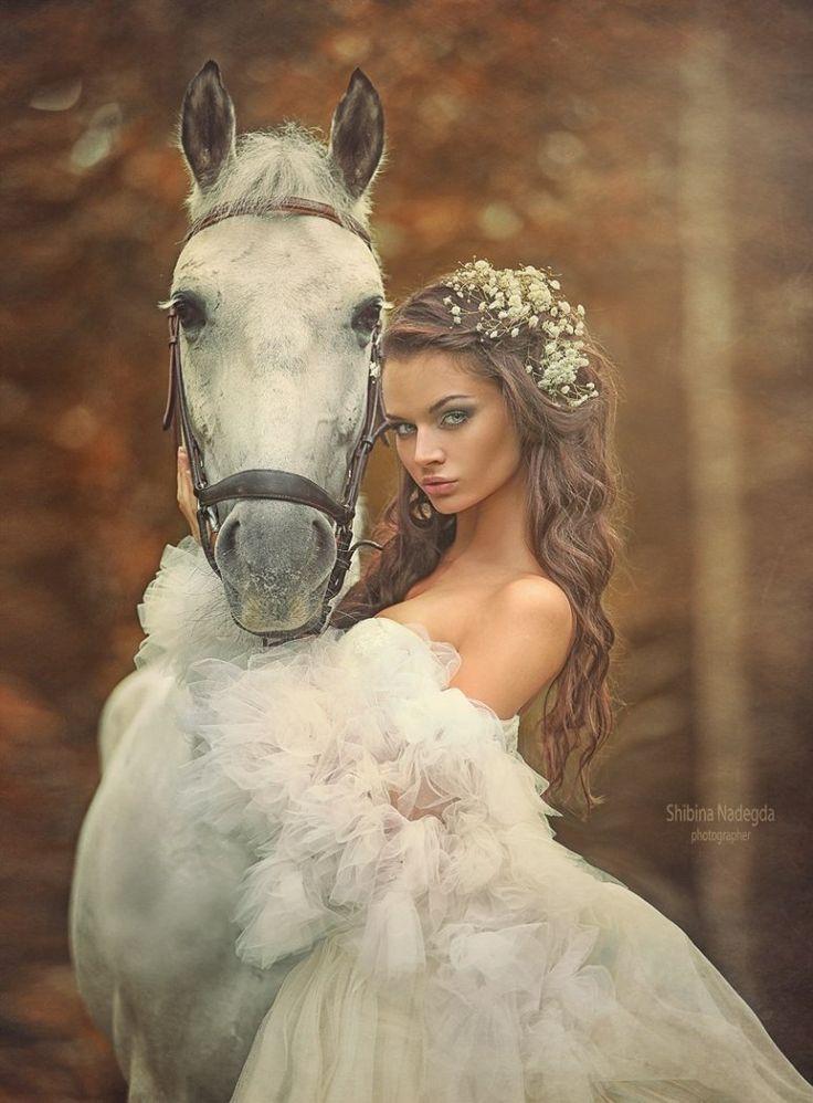 Modern Fairytale fantasy / karen cox. ♔ ♥ ✿⊱╮♥ Dream ♥ ✿⊱╮♥ She was happiest riding her horse