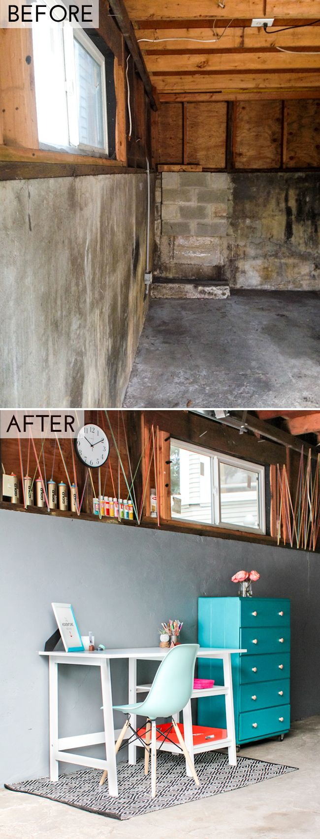 Amazing Garage Makeover by The Crafted Life