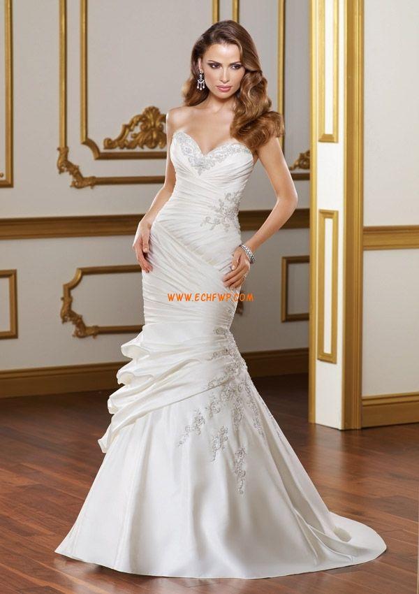 Poire Lacets Naturel Robes de mariée de luxe