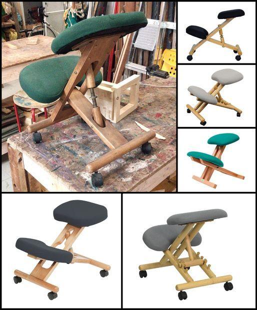 wooden kneeling chair