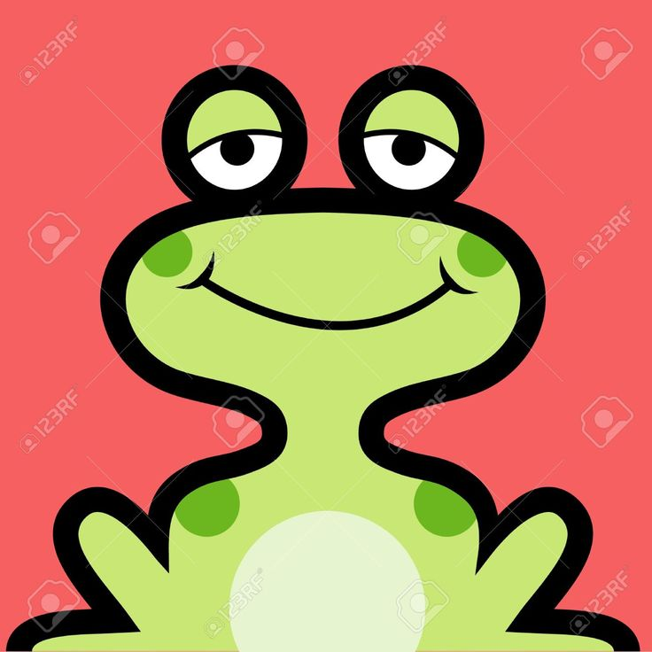 Avatar 2 Animals: Frog Avatar. Cartoon Animal Icon Design Royalty Free