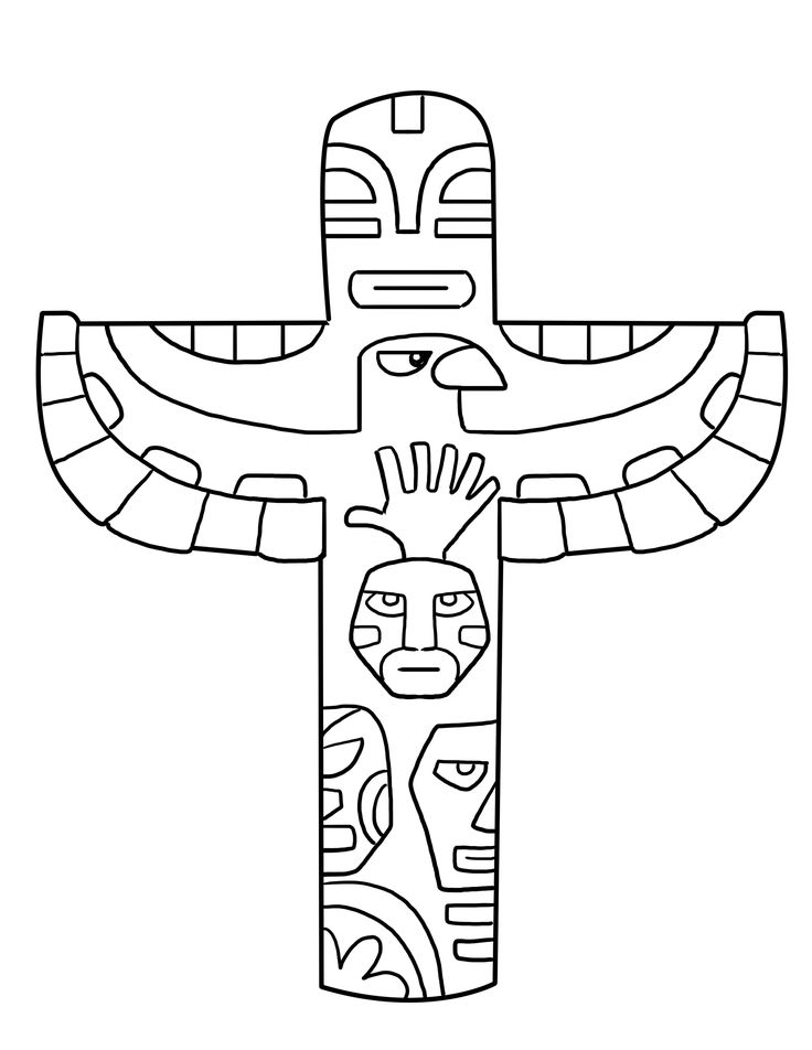 Totem poles are an interesting choice for coloring pages as they acquaint your child with the Native American culture.