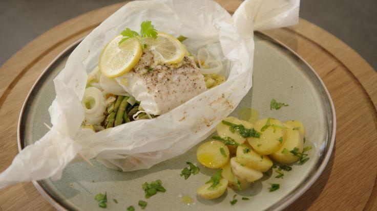 Vispapillot met groentjes en krielaardappelen van Sandra Bekkari | VTM Koken