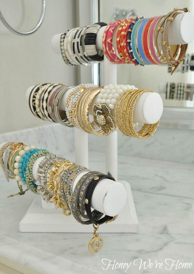 pvc pipe bracelet storage solution