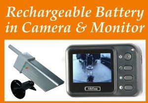 Magnetic Portable Wireless Camera System Rechargeable Battery Built-in Monitor and Wireless Magnetic Camera by 4UCam. $159.99. This magnetic RV hitch wireless camera system is designed for portable and multi-functional use. Both monitor and camera have built-in rechargeable battery inside, easy to use with single hand operation and helps while backing up and the image can be selected to be normal or reverse with 480TV lines for clear picture quality. Magnetic based...