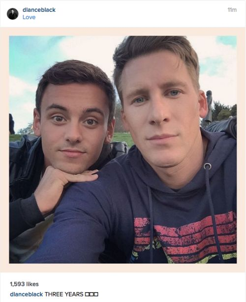 "monkey-and-frog: "" Happy 3rd Anniversary to Tom Daley and Dustin Lance Black…"