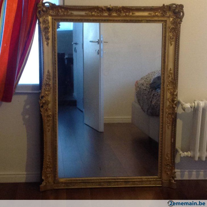 Grand miroir ancien - A vendre à Ittre Virginal-Samme