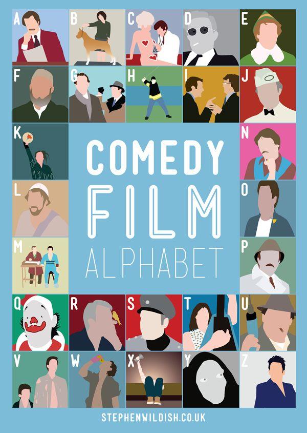 Comedy Movie AlphabetGame!: Movie Posters, Old Schools, Alphabet Games, Comedy Movies, Stephen Wildish, Alphabet Posters, Pink Panthers, Comedy Film, Film Alphabet