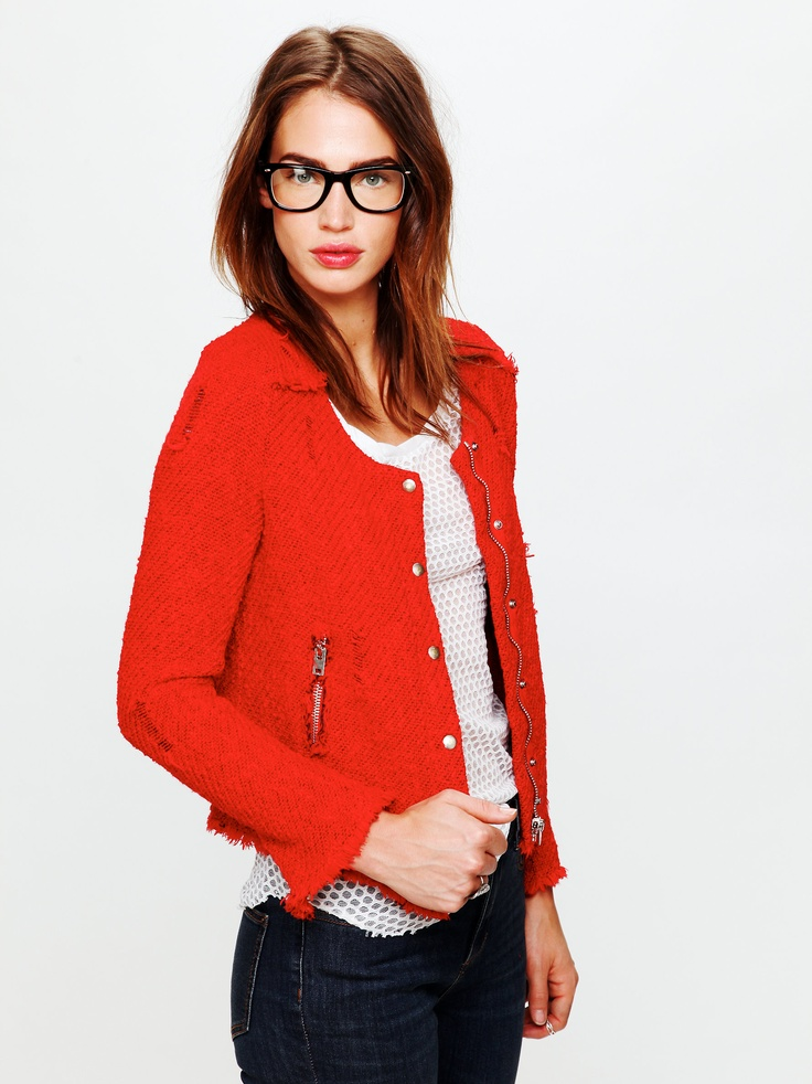 Red Motorcycle Jacket... for every season.