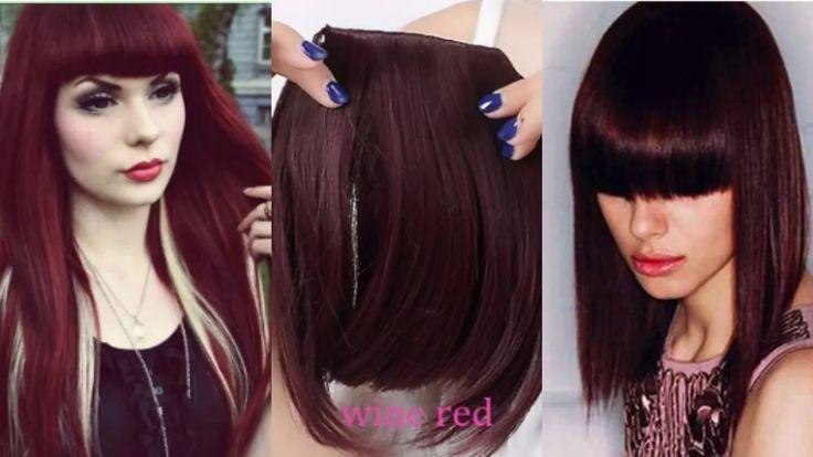 franja de cabelo100% humano 25gr cor 99j vermelho  borgonha