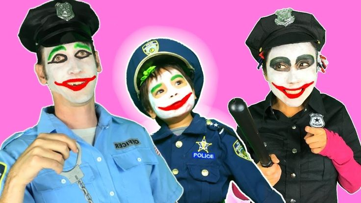 Joker Police family vs Snow White, Maleficent w/ Pink spidergirl, Frozen...
