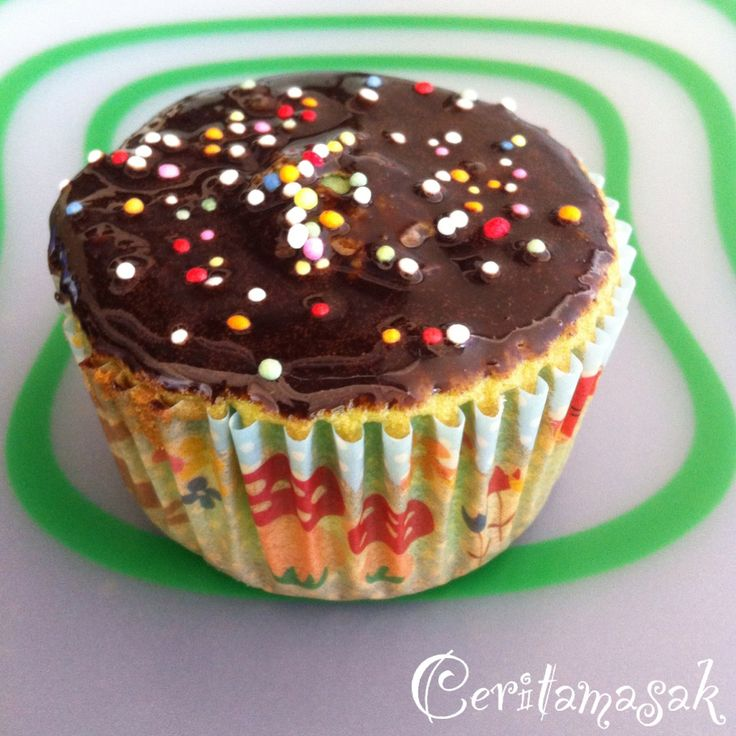 Green Cupcake Chocolate Topping |