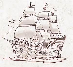 Image result for pirate ship drawing easy