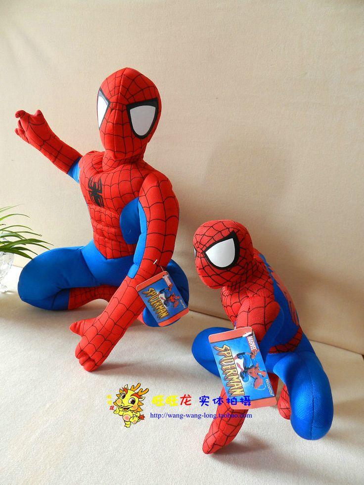 Фильм и телевизор удивительный человек паук детская игрушка плюша 45 см на корточках человек паук плюшевые куклы большой подарок w732