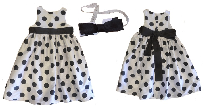 Black & White Spotted Party Dress.