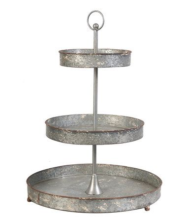Love this Distressed Metal Tiered Stand on #zulily today!